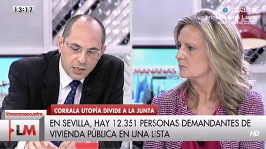"""Isabel San Sebastián, a Elpidio Silva: """"Eso es demagógico juez y usted lo sabe"""""""