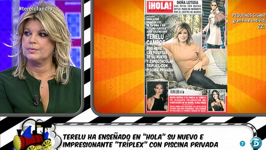 Terelu Campos nos muestra su casa en la portada de la revista '¡Hola!'