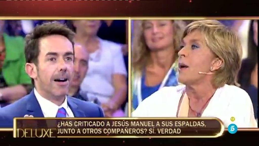 Jesús Manuel, sorprendido con las críticas de Chelo a sus espaldas