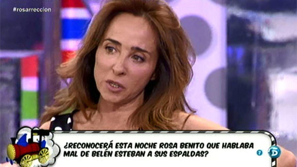 """María Patiño: """"A mí me ha decepcionado Belén con Raquel Bollo y con Rosa Benito"""""""