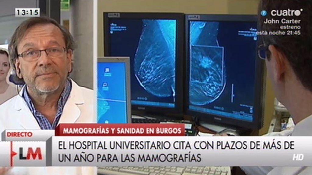El Hospital Universitario de Burgos cita con plazos de un año para las mamografías