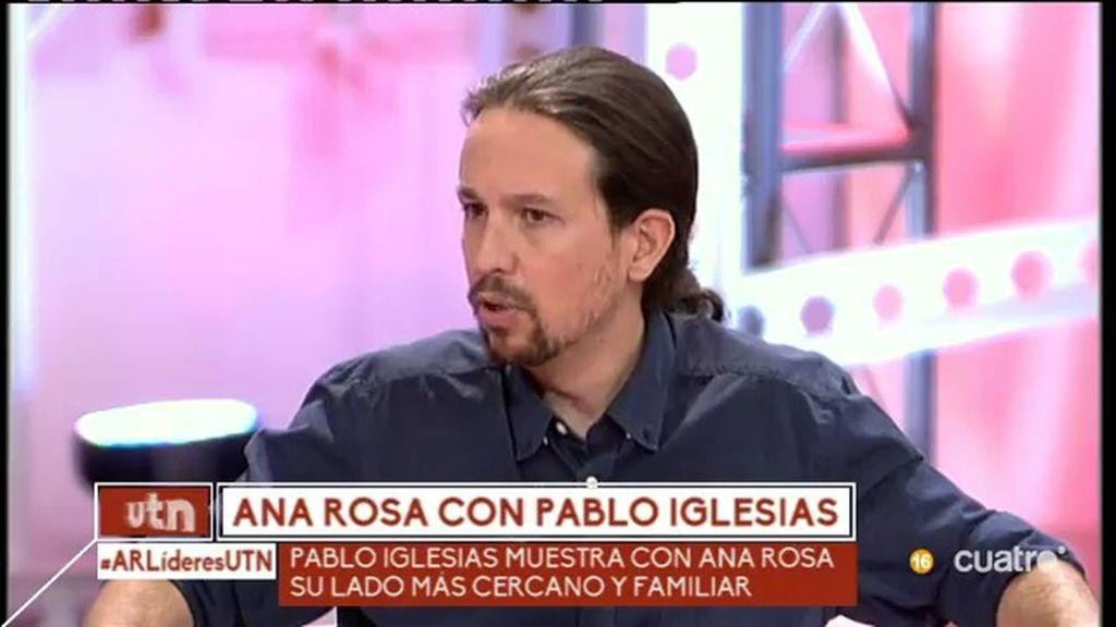 """Pablo Iglesias: """"No he coincidido con Mariano Rajoy por la falta de voluntad del presidente"""""""