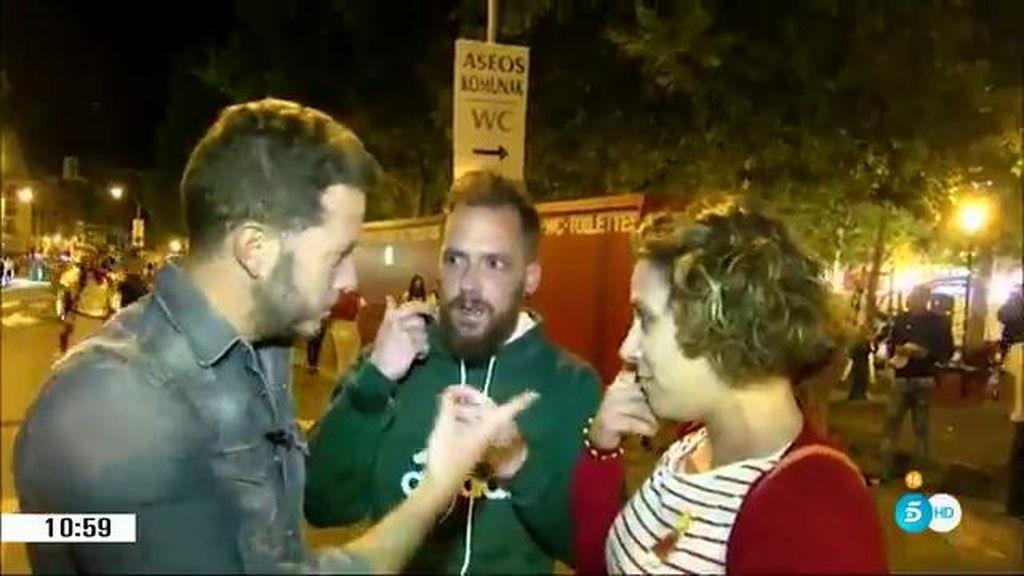 Vandalismo y peleas en las calles de Pamplona