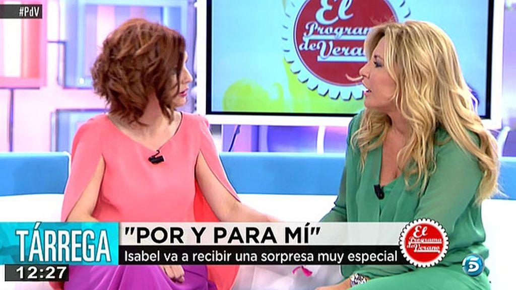 """Isabel, agradece a Tárrega su apoyo: """"Me ha brindado su ayuda y ha llenado mi nevera"""""""