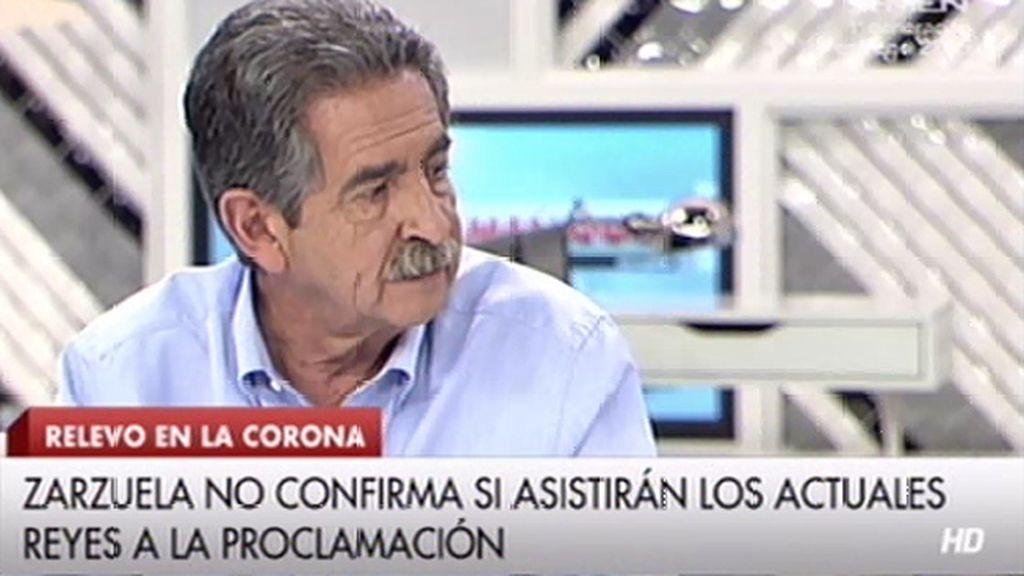 """Miguel Ángel Revilla, de Urdangarin: """"Si va a la proclamación, sería el primer error grave"""""""