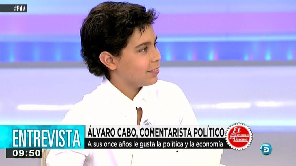 El pequeño sabio, Álvaro Cabo, aconseja a los jóvenes qué hacer en el tiempo libre