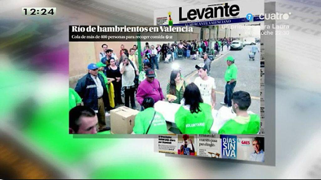 Una fundación valenciana, desbordada por la asistencia a un reparto de familia