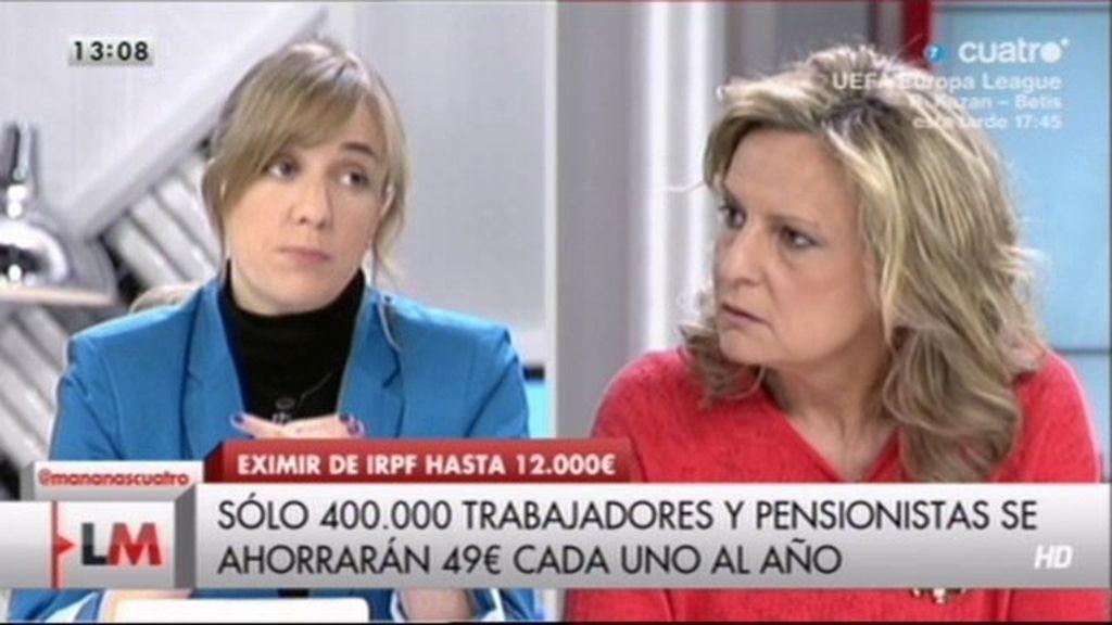 """Isabel San Sebastián: """"Un trabajo de 400 euros al mes es mejor que nada"""""""