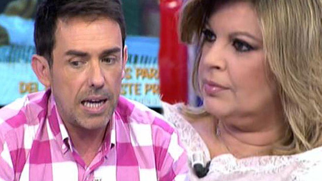 "Jesús Manuel, a Terelu Campos: ""¿Te pasa algo conmigo?"""