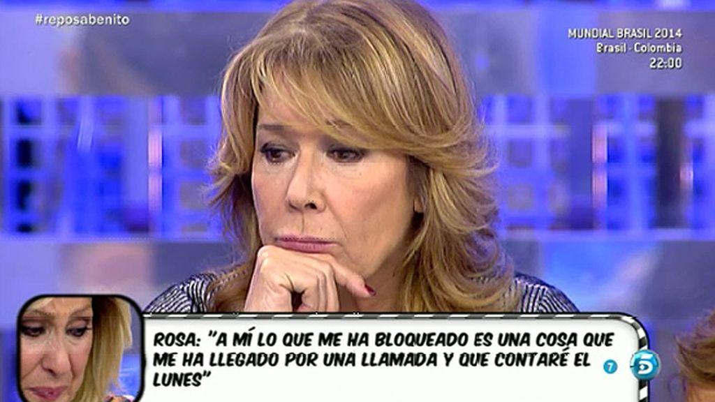 """Rosa Benito: """"Amador me dijo que me ayudaría, pero no me ha llegado nada"""""""