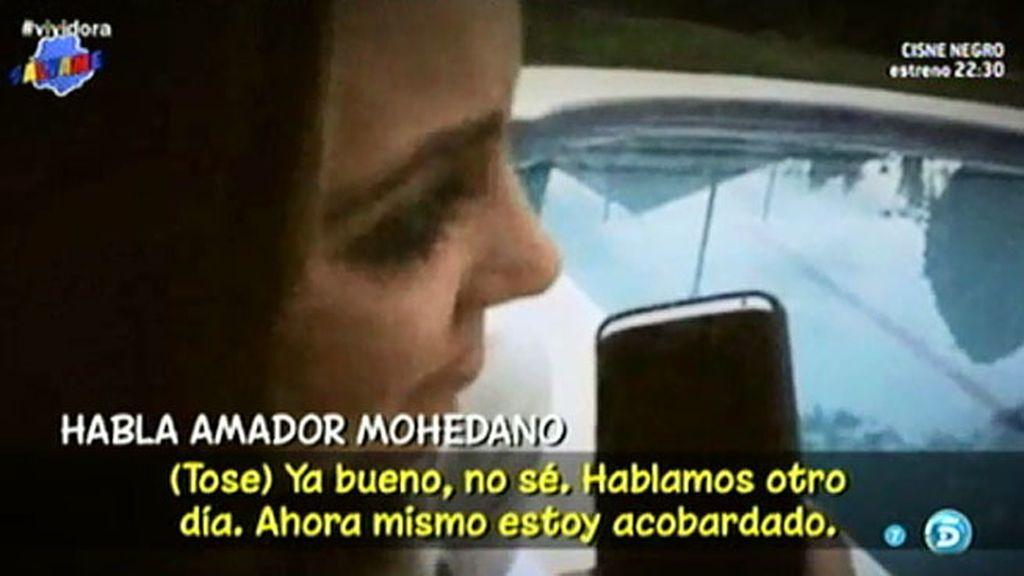 Viviana Figueredo graba una conversación telefónica con Amador Mohedano