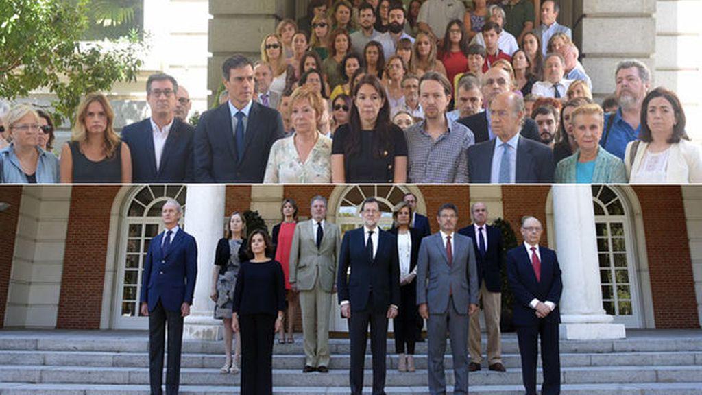 Unidad de los políticos españoles ante la barbarie terrorista