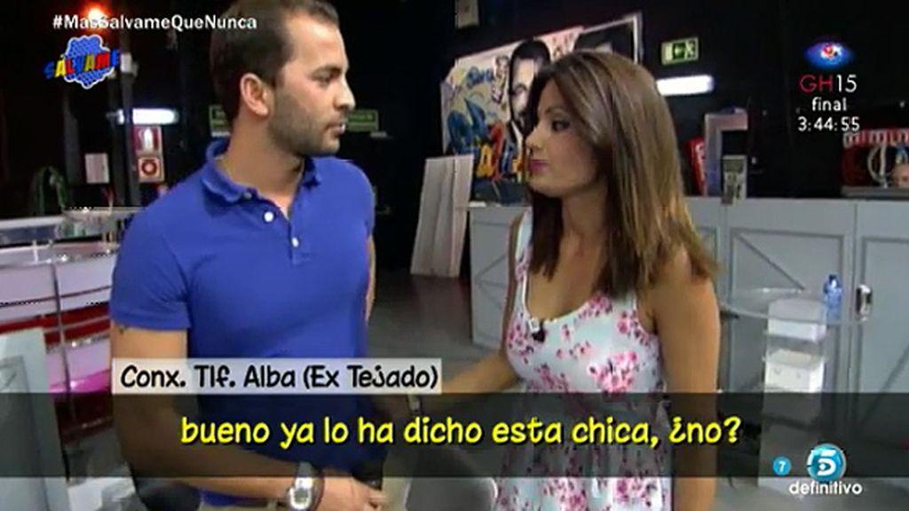 """Alba, sobre Sandra: """"Yo creo a Antonio, y él me dice que solo son amigos"""""""