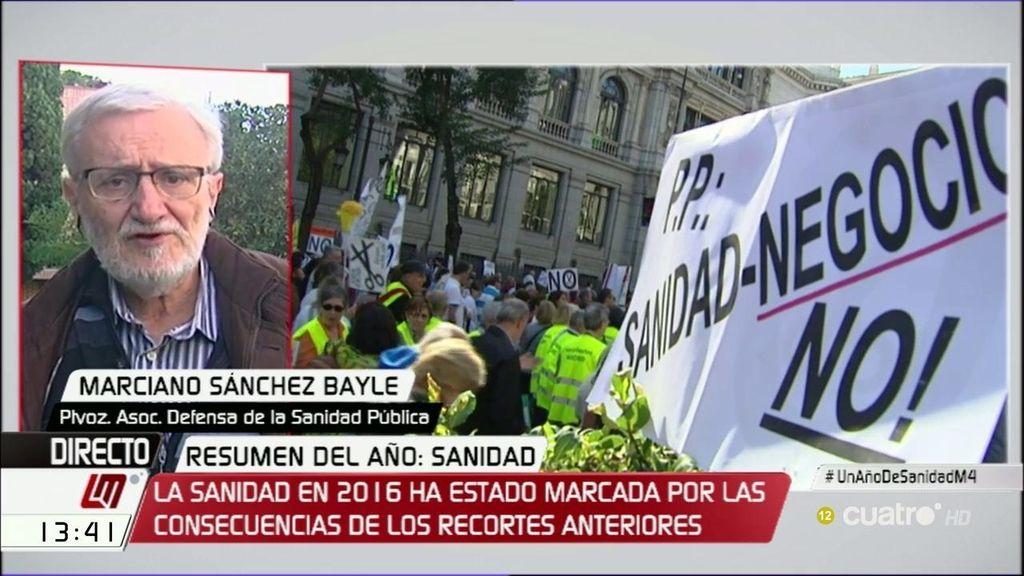 """Sánchez Bayle: """"La ministra demuestra su desconocimiento profundo de la Sanidad"""""""