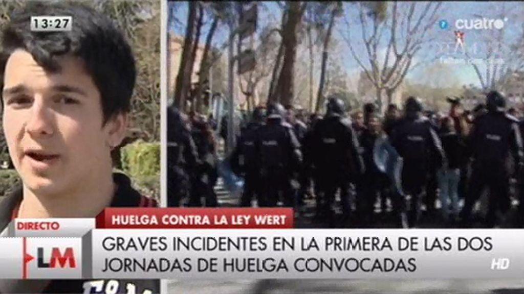 50 estudiantes detenidos en el desalojo del vicerrectorado de la Complutense