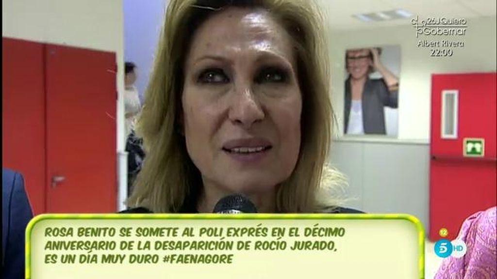 """Rosa Benito, de Rocío Jurado: """"Le diría que la quiero, en presente, nunca en pasado"""""""