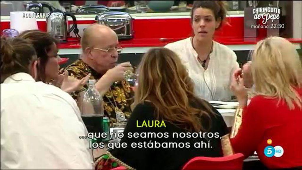 Laura, Javier y Fran Nicolás, primera bronca
