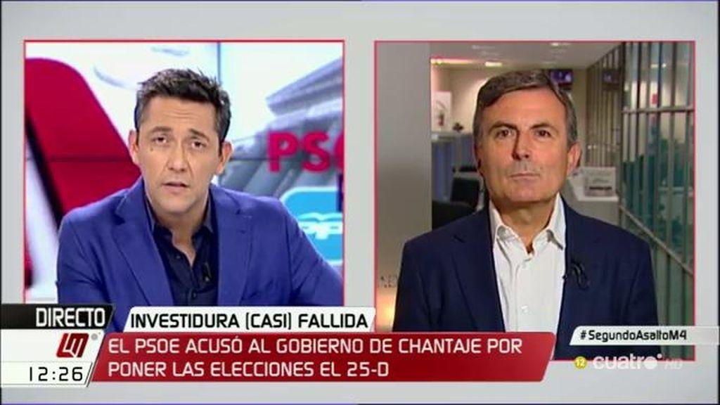 """P. Saura: """"Las terceras elecciones serían una responsabilidad al 100% de Rajoy"""""""