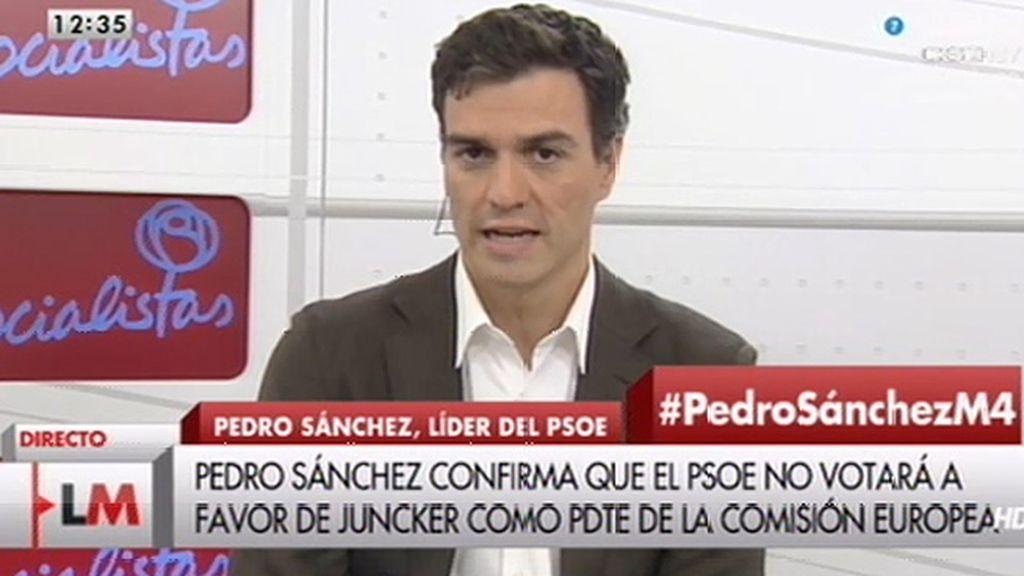 """Pedro Sánchez: """"No vamos a coaligarnos con el PP en Madrid ni en Bruselas"""""""