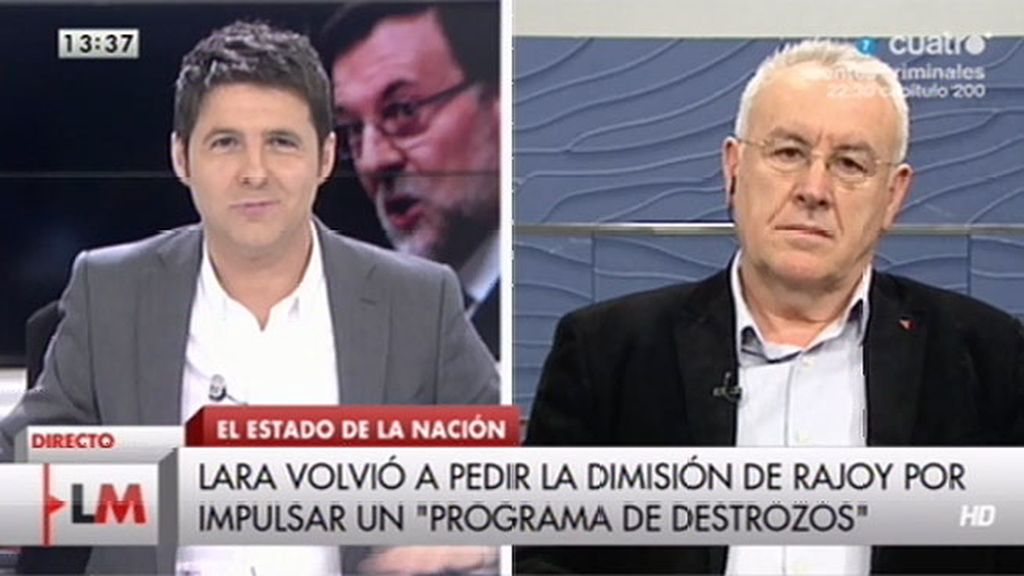 """Cayo Lara: """"El programa de reformas del PP es un programa de destrozos a la ciudadanía"""""""