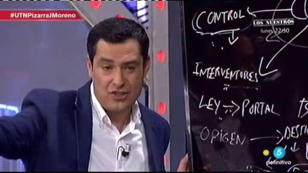 """Juanma Moreno (PP): """"Al tipo que pille metiendo la mano en la caja, va a la calle"""""""