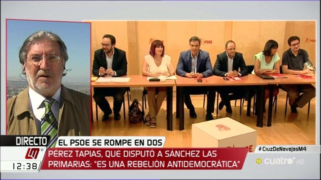 """Pérez Tapias: """"Es una rebelión antidemocrática y desleal"""""""