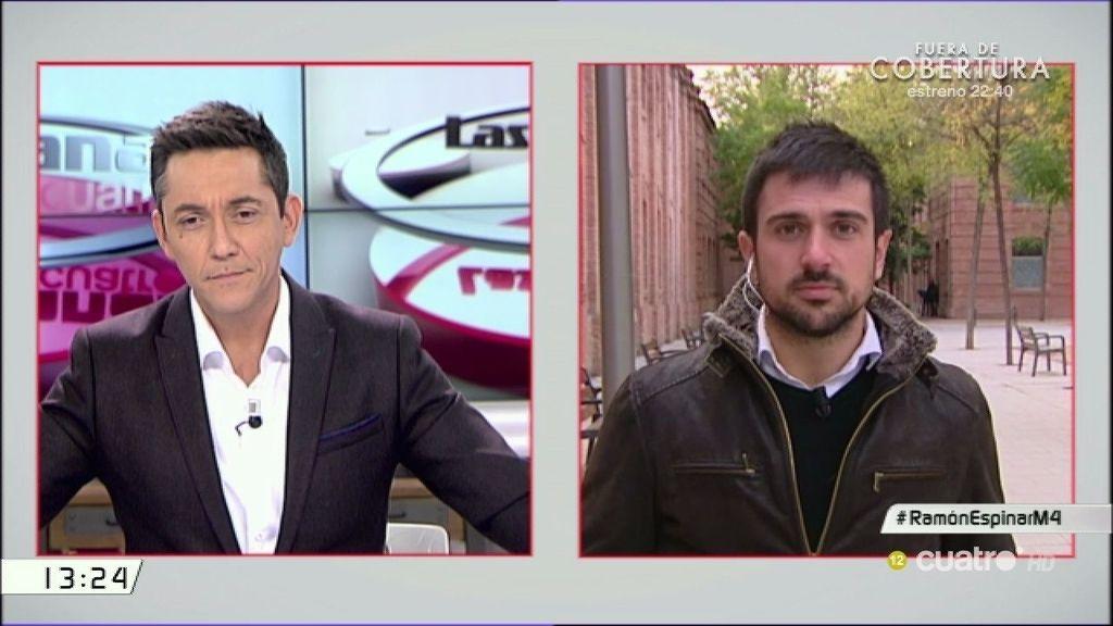"""Espinar acusa a la Comunidad de Madrid: """"Es la Comunidad quien ha filtrado la información"""""""