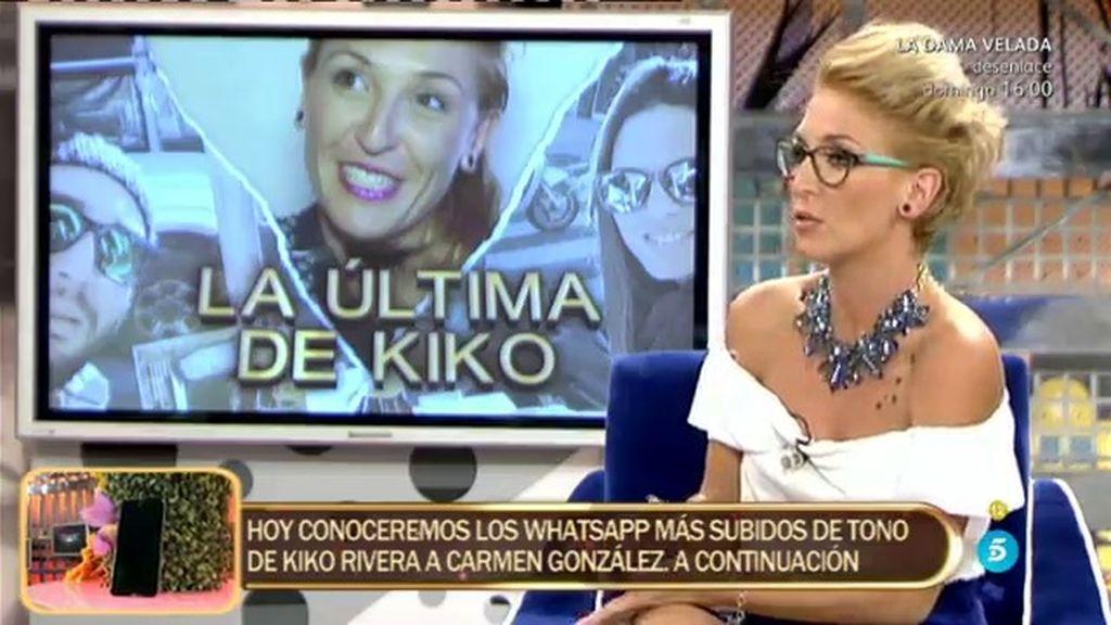"""Carmen, supuesta amante de Kiko Rivera: """"Yo me ofrecí y él estaba encantado"""""""