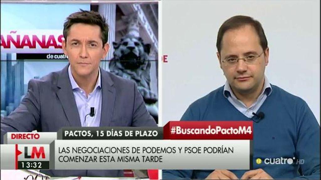 La entrevista de César Luena, a la carta