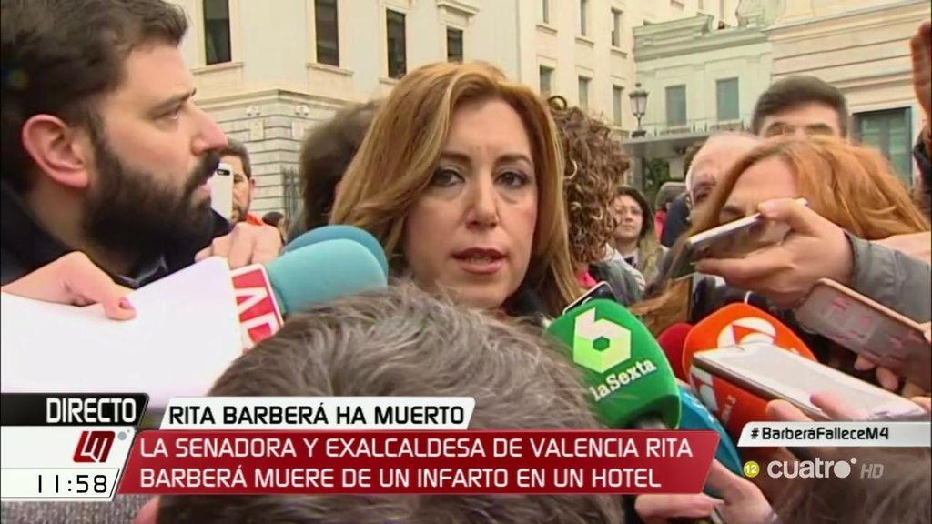 """Susana Díaz: """"Cuando alguien fallece lo que corresponde es tener respeto"""""""