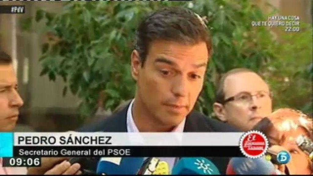 Pedro Sánchez critica a Rajoy