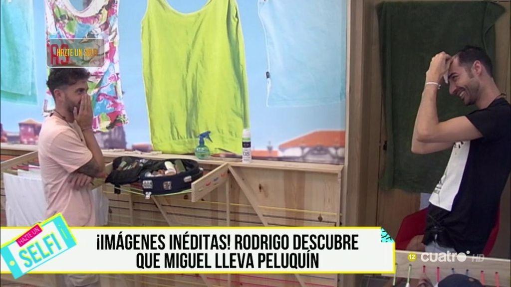 ¡Imágenes inéditas de 'GH'!: Miguel se quita el peluquín delante de Rodrigo