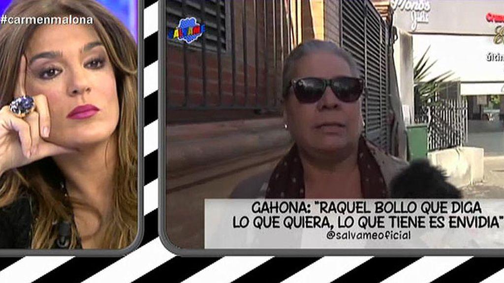"""Carmen Gahona: """"Raquel Bollo que diga lo que quiera, lo que tiene es envidia"""""""