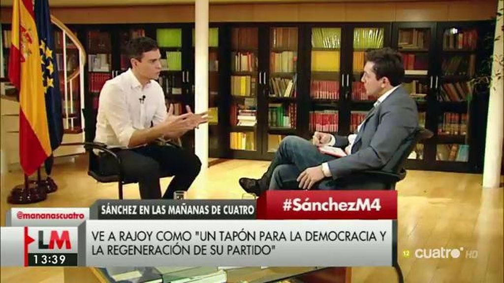 """Pedro Sánchez: """"Hemos dicho que no a Rajoy y a ningún otro candidato del PP"""""""
