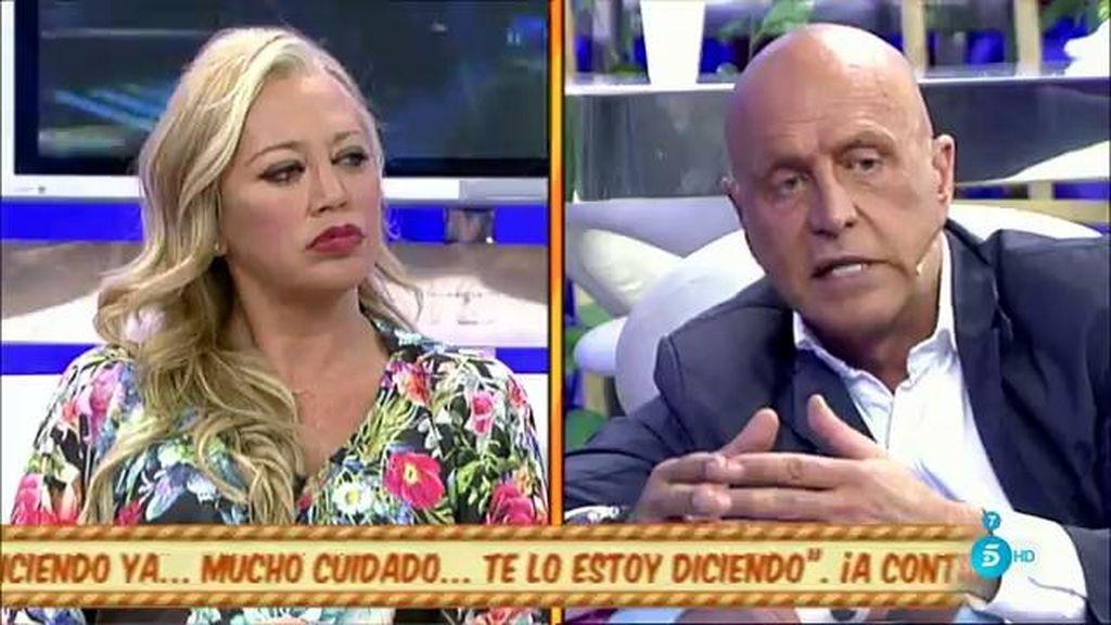 "Matamoros, a Belén Esteban: ""Dicen que hay cantidades entregadas en mano y recibís"""