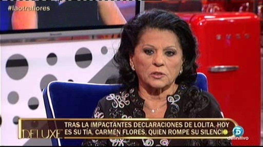 """Carmen Flores: """"Me duele mucho que mis sobrinas ni me nombren en las entrevistas"""""""