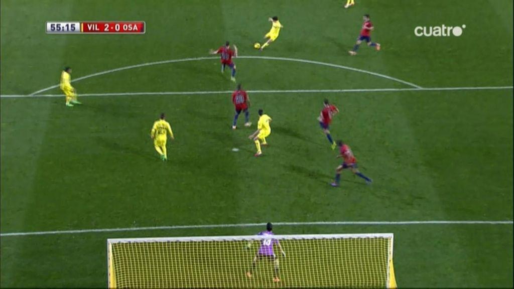 Gol de Trigueros (Villarreal 2-0 Osasuna)