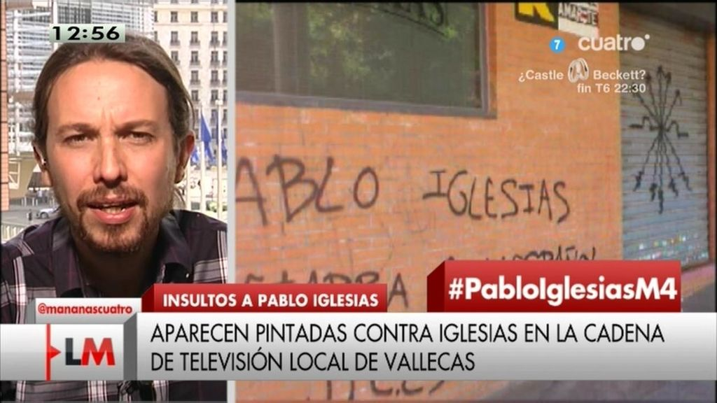 """P. Iglesias, sobre las pintadas amenazantes: """"Los perros del poder están preocupados"""""""