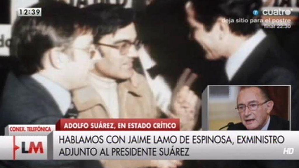 """Jaime Lamo, sobre Suárez: """"Prefiero vivir el tiempo que le quede con ciertas esperanzas"""""""