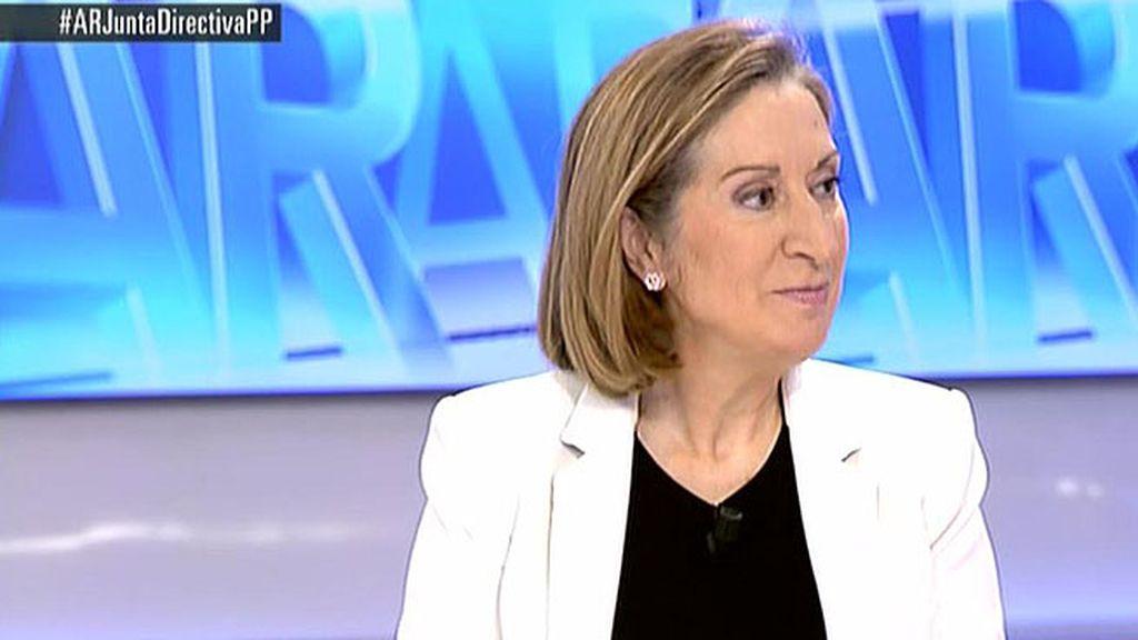 """Ana Pastor: """"Cuando haya que opinar el futuro, lo decidirán todos los españoles"""""""