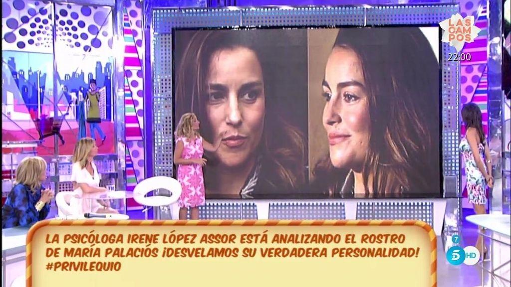 La psicóloga Irene López Assor analiza el rostro de María Palacios