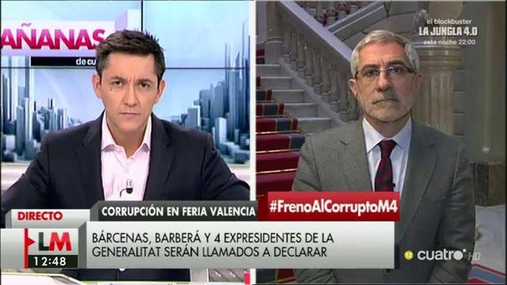 """Llamazares, de Valencia: """"Cualquier cuestión era materia para lucrarse y financiar al PP"""""""