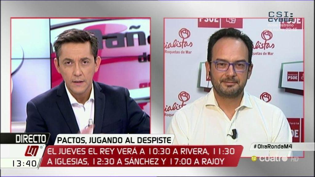 La entrevista completa de Antonio Hernando, a la carta