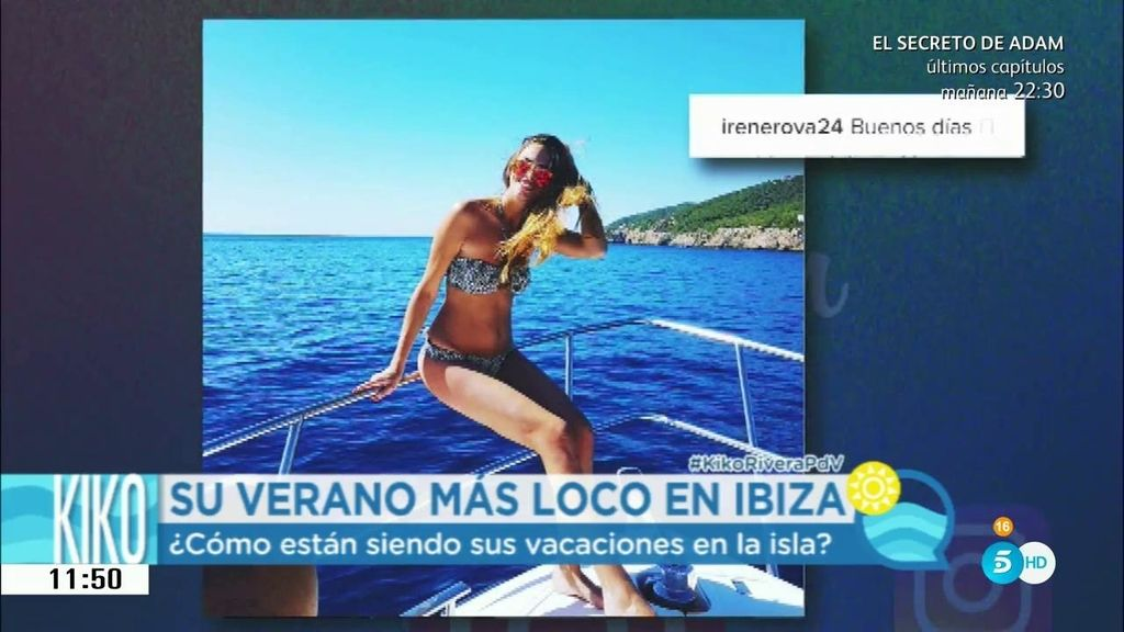 Irene Rosales luche tipazo en Ibiza