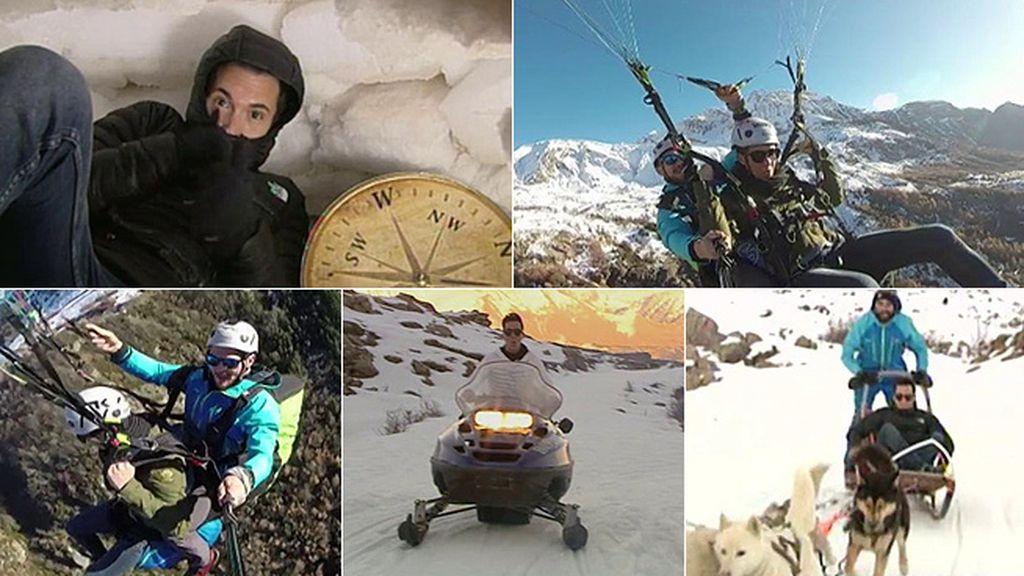 Por los aires, bajo cero y en trineo: los reportajes de riesgo de Omar
