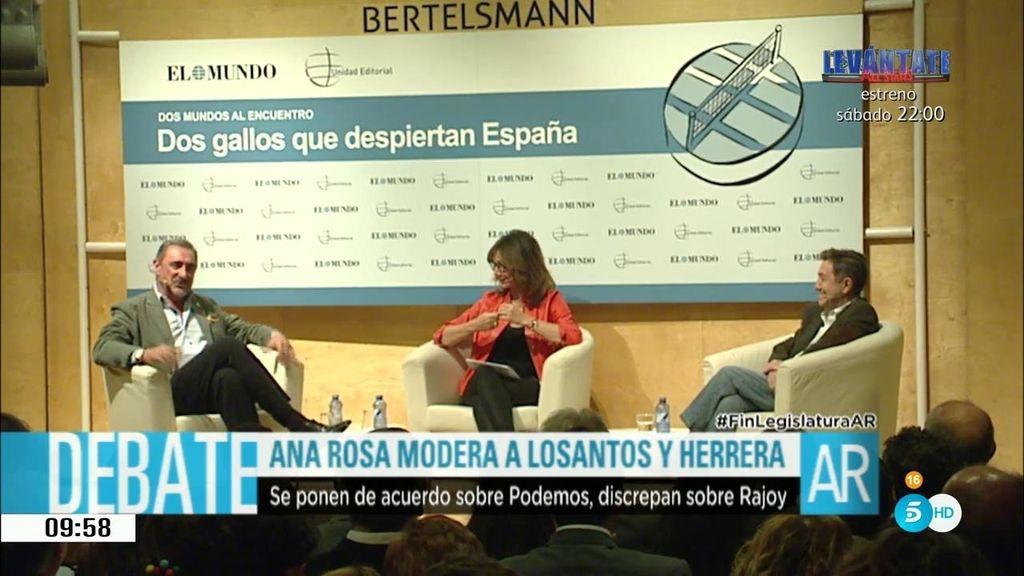 Ana Rosa, una moderadora de lujo en una charla entre Losantos y Herrera