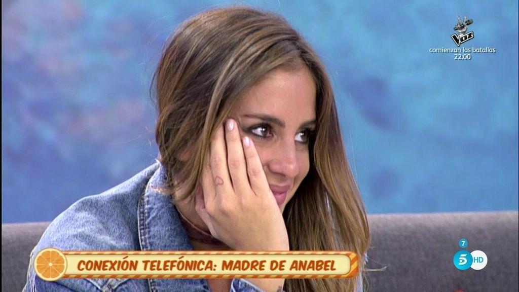 """La madre de Anabel, interviene en directo: """"Estoy contigo en todo"""""""