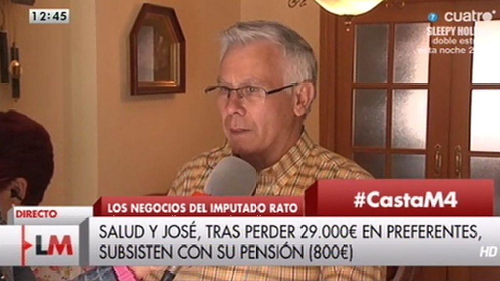 """José: """"Siempre he pagado mis impuestos y me encuentro que me quitan el dinero que tenía para mi jubilación"""""""