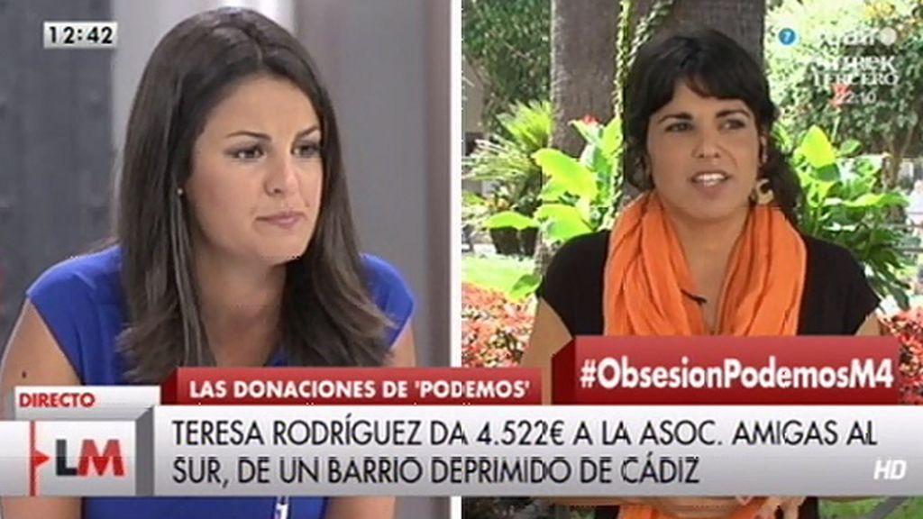 """T. Rodríguez (Podemos): """"No pensamos que la recuperación sea una amenaza"""""""