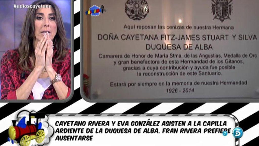 La Duquesa de Alba descansa ya en la Iglesia del Cristo de los Gitanos